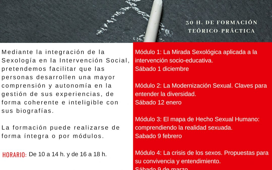 CURSO DE EDUCACIÓN SEXUAL EN LA INTERVENCIÓN SOCIO-EDUCATIVA
